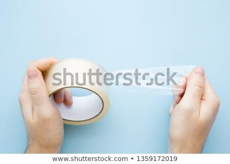 Hand tonen plakband achtergrond kabel Stockfoto © photography33