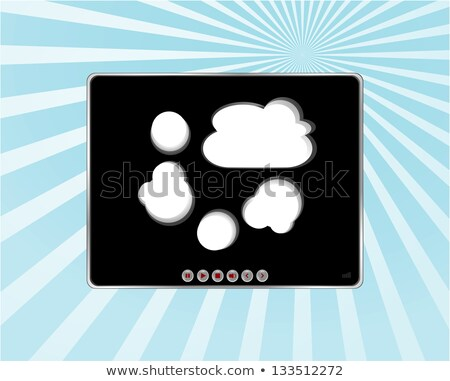 Video media player skin on blue sun ray background Stock photo © fotoscool