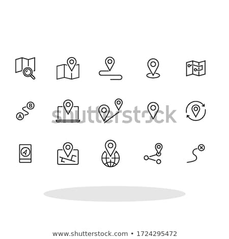 map and navigation icon set stock photo © genestro