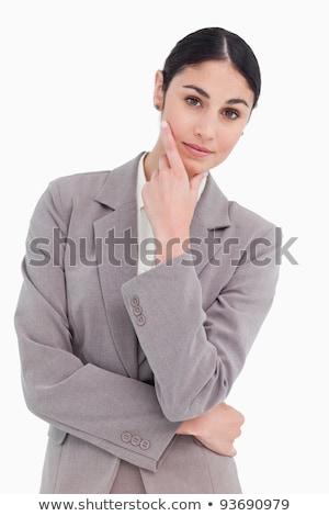 Pensamientos blanco trabajo trabajador empresarial Trabajo Foto stock © wavebreak_media