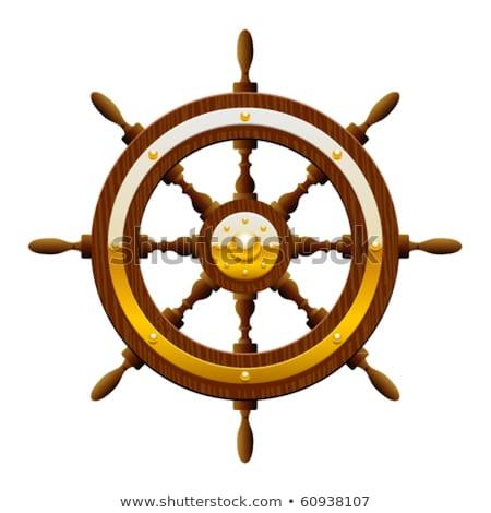 Buque rueda centro barco volante Foto stock © Lightsource