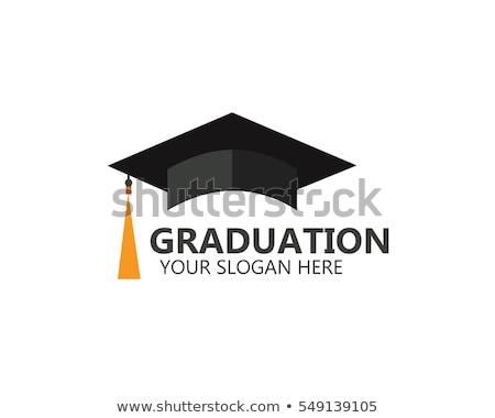 Graduação boné conselho ouro branco símbolo Foto stock © Lightsource
