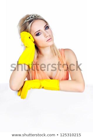 dışarı · kadın · lastik · eldiven · önlük · kadın - stok fotoğraf © wavebreak_media