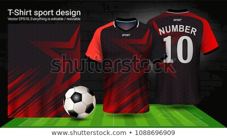 abstract colorfull football vector Stock photo © bharat
