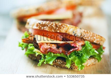 ベーコン · サンドイッチ · 白パン · トマト · ケチャップ · 食品 - ストックフォト © ozaiachin