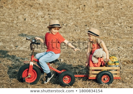 Cute little brother and sister Stock photo © Talanis
