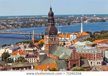 gebouw · art · nouveau · stijl · Riga · fragment - stockfoto © kyolshin