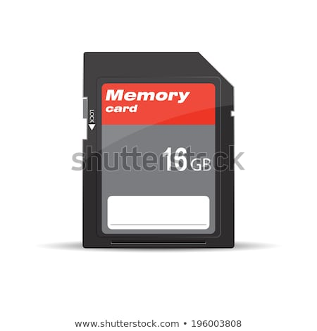 16gb memory card isolated on white