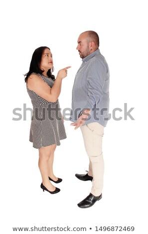 Zangado homem dois dedo gesto Foto stock © scheriton