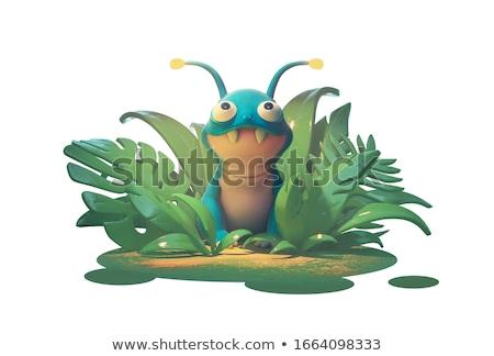 3D criatura carácter verde azul blanco Foto stock © Melvin07