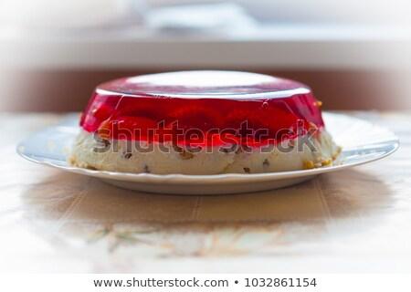 Red jelly cake stock photo © kttpngart