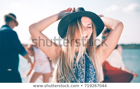 lata · dance · grupy · ludzi · taniec · słońce · muzyki - zdjęcia stock © Aiel