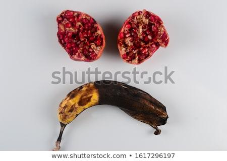 Rot granaatappel witte natuur vruchten tuin Stockfoto © inxti