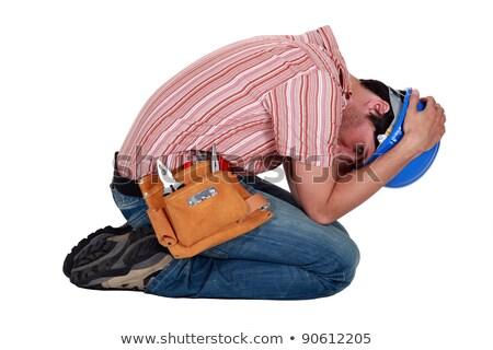 Handlowiec człowiek płacz biały płacz depresji Zdjęcia stock © photography33