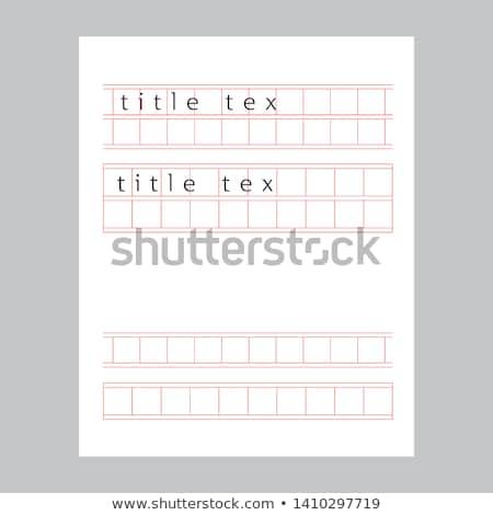 Kézirat papír Stock fotó © zzve
