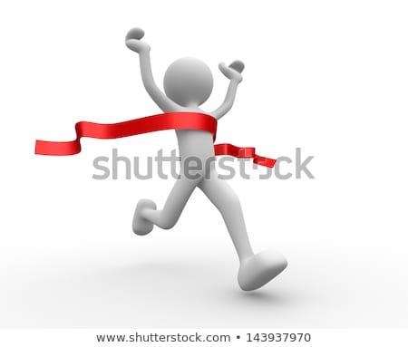 3 ª persona atleta blanco pequeño hombre deportes Foto stock © karelin721
