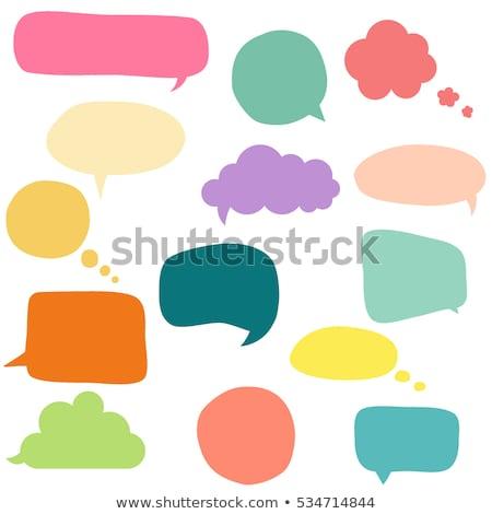 colorful speech bubbles window stock photo © limbi007