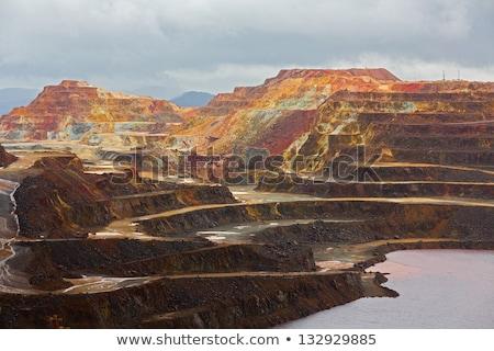 ásatás fém szabadtér bánya textúra munka Stock fotó © lunamarina