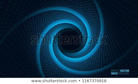Vortice illustrazione centrale abstract blu esplosione Foto d'archivio © ArenaCreative