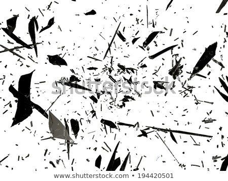 Destruction: pieces of shattered glass over white  Stock photo © Arsgera