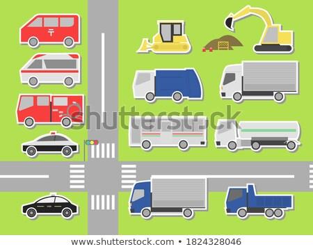 Ingesteld 12 auto weg auto sport Stockfoto © leonido