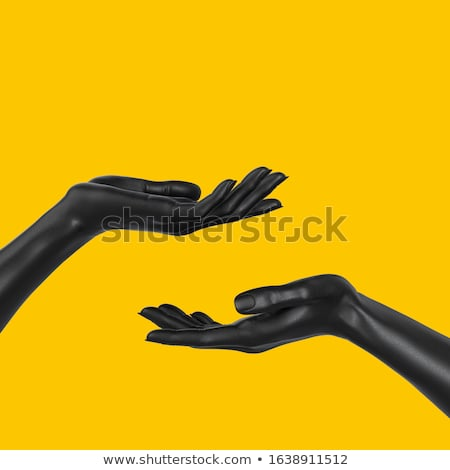 black and yellow giving hands Stock photo © Nelosa
