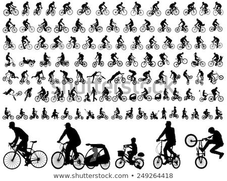 silhouette of biker stock photo © ongap