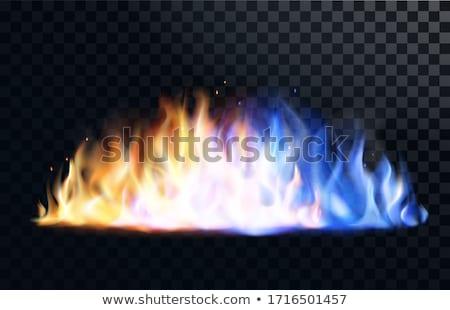 青 · 赤 · 火災 · 炎のような · テクスチャ · 抽象的な - ストックフォト © nneirda