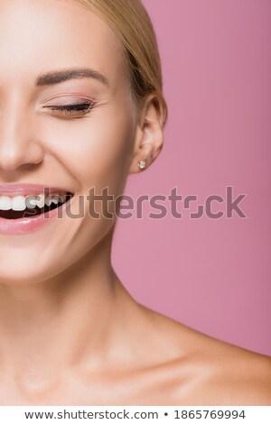 Partial portrait of a beautiful blond woman Stock photo © stryjek