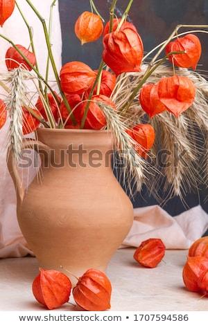 Sonbahar natürmort ahşap masa ayçiçeği tatil Stok fotoğraf © MKucova