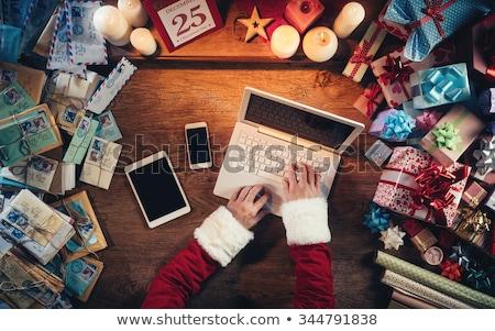 man · kostuum · kerstman · christmas · vakantie - stockfoto © hasloo