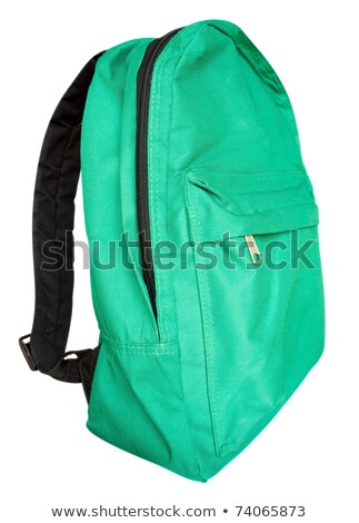 tourist backpack isolated on white clipping path included stock photo © shutswis