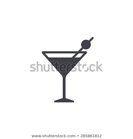 ガラス マティーニ 透明な オリーブ グレー ワイン ストックフォト © FidaOlga
