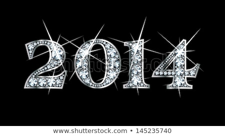 Vector illustration of diamond 2014 year  Stock photo © Elisanth