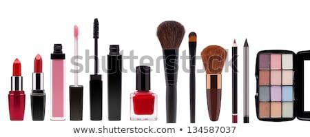 piros · kozmetikai · cső · izolált · fehér · arc - stock fotó © tetkoren