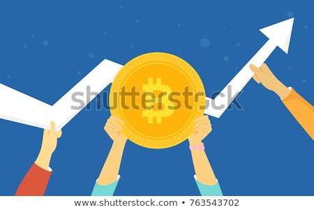 Bitcoin monety bezpieczeństwa kluczowych ręce pliku Zdjęcia stock © norwayblue