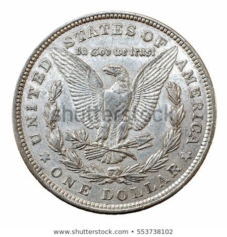 uno · argento · dollaro · americano · aquila · moneta - foto d'archivio © antonio-s