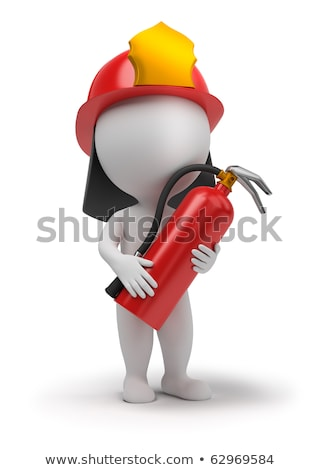 3d small people   fireman stock photo © anatolym