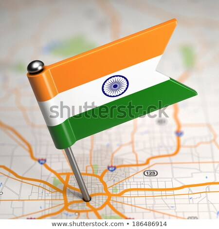 india small flag on a map background stock photo © tashatuvango
