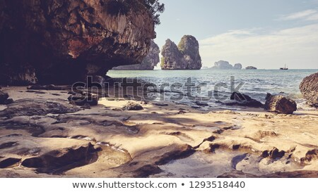 relaxing cove, with a retro effect Stock photo © nito