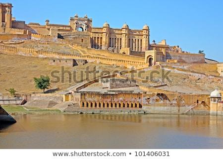 Beautiful Amber Fort near Jaipur city in India Stock photo © meinzahn