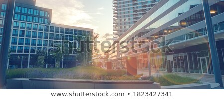 Alto arranha-céus noite negócio escritório cidade Foto stock © Elnur