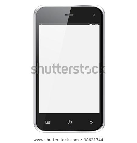 moderno · realista · comprimido · vetor · eps10 · telefone - foto stock © mpfphotography