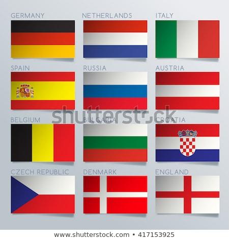 National flag of Czech Republic themes idea design Stock photo © kiddaikiddee