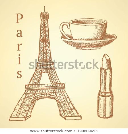 Eiffeltoren · schets · vector · afbeelding · bouw · architectuur - stockfoto © kali