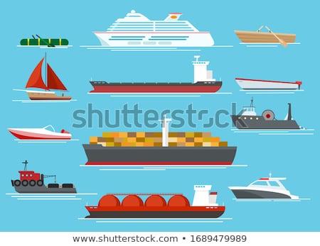Veleiros navios ilustração água oceano barco Foto stock © Slobelix