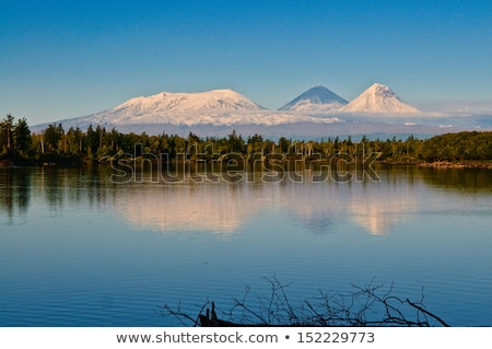 landscape of mountain river kamchatka stock photo © amok