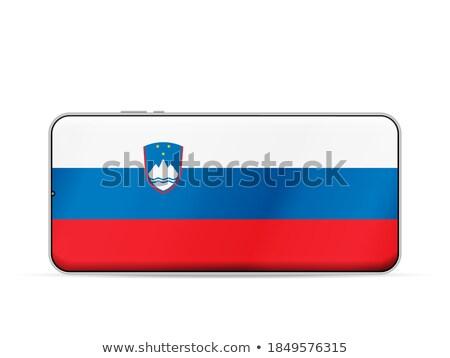 Okostelefon zászló Szlovénia telefon internet telefon Stock fotó © vepar5