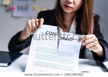 бизнесмен слезу бумаги белый служба фон Сток-фото © PetrMalyshev