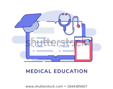 Medici alfabetizzazione design lungo ombre istruzione Foto d'archivio © tashatuvango
